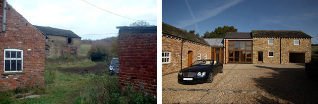 Barn Conversion - Before and After